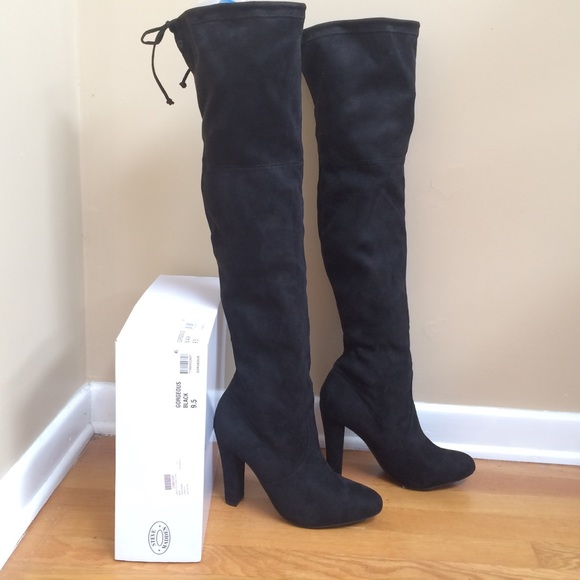 6acab70c24c STEVE MADDEN  Gorgeous  Black Over the Knee Boots